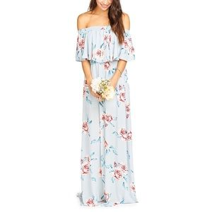 SHOW ME YOUR MUMU HACIENDA DRESS FLOWER HOUR SKY